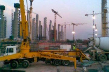 42m concrete pump at Medupi