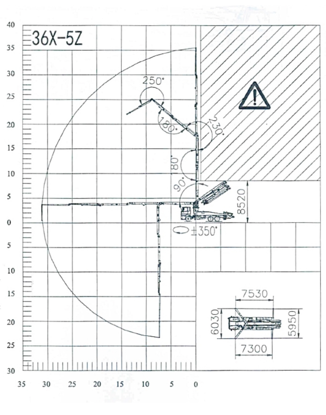 36m concrete pump diagram